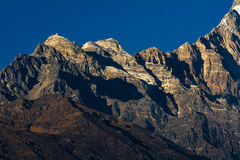 Himalayan mountain peak during sunrise Royalty Free Stock Images