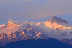 Himalayan mountain,pokhara,Nepal stock photos
