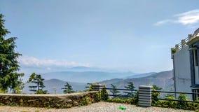 Himalayan mountain range in kausani, Uttarakhand stock image