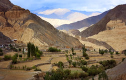 Himalayan mountain range, Ladakh. Himalayan mountain range and moon valley near Lamayuru, Ladakh, India Stock Photos