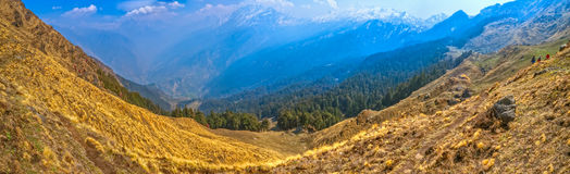 Himalayan mountain range Royalty Free Stock Image