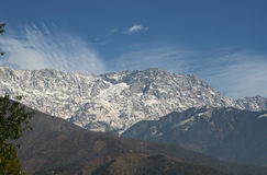 Himalayan mountain range from town of dharamsala in india. Dhauladhar himalayan mountain range as seen from dharamsala India Royalty Free Stock Image