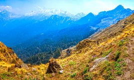 Himalayan mountain range Stock Image