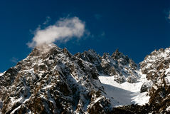 Himalayan Mountain range. A Himalayan Mountain range from Yumthang encompasses 16 peaks over Stock Photography