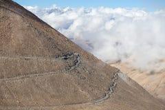 Himalayan mountain and white cloud along Manali - Leh highway. Himachal Pradesh, Ladakh, India Royalty Free Stock Image