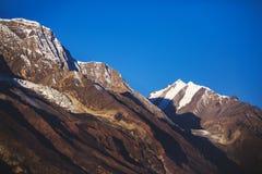 Himalayan mountains. Annapurna circuit trek. Nepal. Himalayan mountains of Nepal. Annapurna circuit trek royalty free stock images