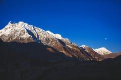 Himalayan mountains. Annapurna circuit trek. Nepal. Himalayan mountains of Nepal. Annapurna circuit trek stock photo