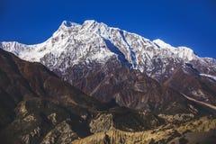 Himalayan mountains. Annapurna circuit trek. Nepal. Himalayan mountains of Nepal. Annapurna circuit trek royalty free stock photos