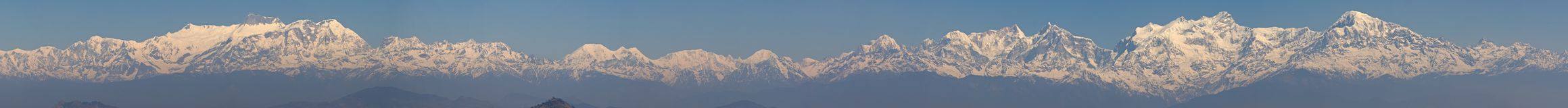 Himalayan Mountains Panorama Stock Photography