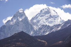 Himalayan mountains. Tall snow covered Himalayan mountains Stock Photography