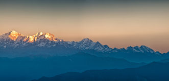 Himalayan Mountains View from Mt. Shivapuri Stock Photography
