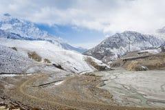 Himalayan mountains during winter time, Nepal Royalty Free Stock Photo