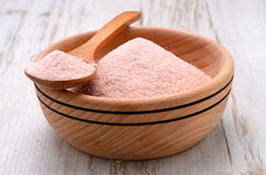 Himalayan pink crystal salt Stock Photo