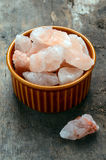 Himalayan pink crystal salt Royalty Free Stock Photo