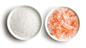 Himalayan pink salt stock photos