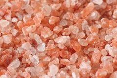 Himalayan pink salt background Royalty Free Stock Images