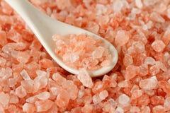 Himalayan pink salt background Stock Photo