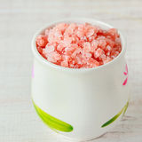 Himalayan pink salt Stock Photos