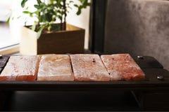 Himalayan pink salt for cooking Royalty Free Stock Images