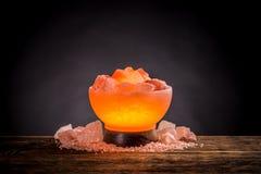 Himalayan pink salt lamp Royalty Free Stock Photos