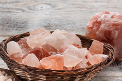 Himalayan pink salt Royalty Free Stock Photo