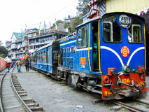 Himalayan railway toy train at Darjeeling station Royalty Free Stock Photos