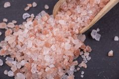 Himalayan red salt Stock Photos