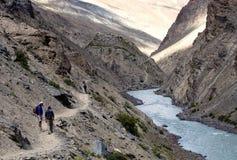 Himalayan river. Kargiak river, Zanskar valley, Ladakh, India Royalty Free Stock Image