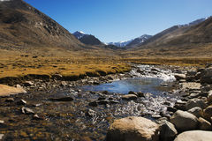 Himalayan river on the way to nubra valley from Ladakh ,India Stock Photography