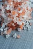 Himalayan rock salt close up detail Royalty Free Stock Photo