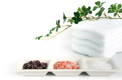 Himalayan rock salt. Royalty Free Stock Image
