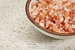 Himalayan salt bowl Royalty Free Stock Photography