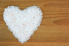 Himalayan salt. In heart shape Stock Images