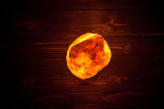 Himalayan salt lamp. Close-up shot Royalty Free Stock Photo