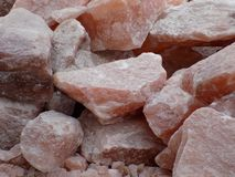 Himalayan Salt Rock. Himalayan Pink Salt rocks having more than 84 mineral traces, dug from 250 million years old Khewra Salt Mines, Pakistan royalty free stock photography