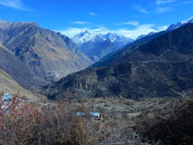 Himalayan scene in winter Royalty Free Stock Images