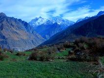 Himalayan scene winter-II Stock Image