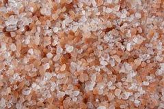 Himalayan sea salt background, closeup.  stock photo