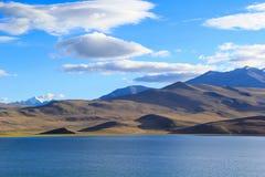 Himalayan sjöMoriri Tso, Ladakh, Indien Royaltyfri Fotografi