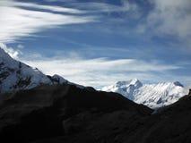 Himalayan Snowy Scenery near Thorung-La Pass Royalty Free Stock Image