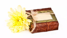 Himalayan soap with yellow flower Royalty Free Stock Photo