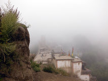 Himalayan Town Shrouded in Monsoon Cloud Royalty Free Stock Photography