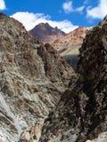 Himalayan valley. Kargiak river, Zanskar valley, Ladakh, India Stock Photo