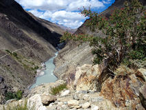 Himalayan valley. Kargiak river, Zanskar valley, Ladakh, India Royalty Free Stock Image