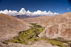 Himalayan valley, Ladakh, India. Overview of a valley in Ladakh, India Royalty Free Stock Image