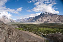 Himalayan valley, Ladakh, India. Overview of Nubra valley in Ladakh, India Royalty Free Stock Photography