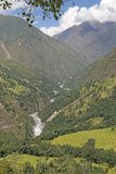 Himalayan valley Stock Photo