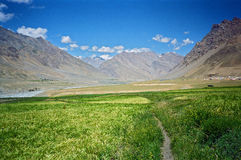Himalayan valley in Spiti, India Stock Image