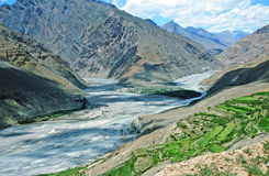 Himalayan valley in Spiti, India Royalty Free Stock Photos