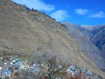 Himalayan village scene Royalty Free Stock Image